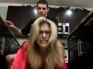 Son gives mom a breakfast creampie