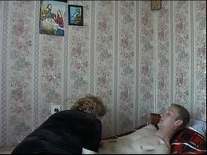 Mom Son's friend Russian Mature Granny Fucking